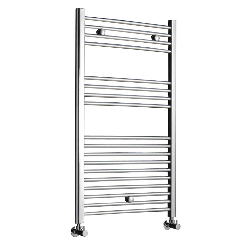 Kudox Ladder - Premium Chrome Flat Heated Towel Rail - 1000mm x 600mm