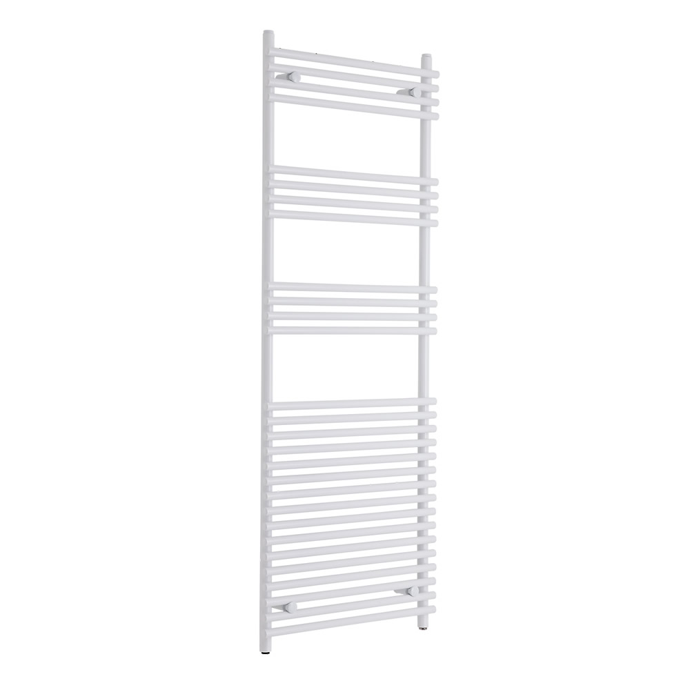 Kudox Harrogate - White Flat Bar on Bar Heated Towel Rail - 1650mm x 600mm