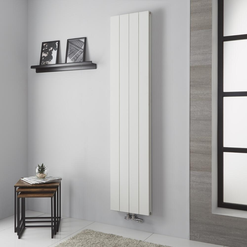 Milano Kit - Aluminium Double Radiator White - 1800mm x 375mm