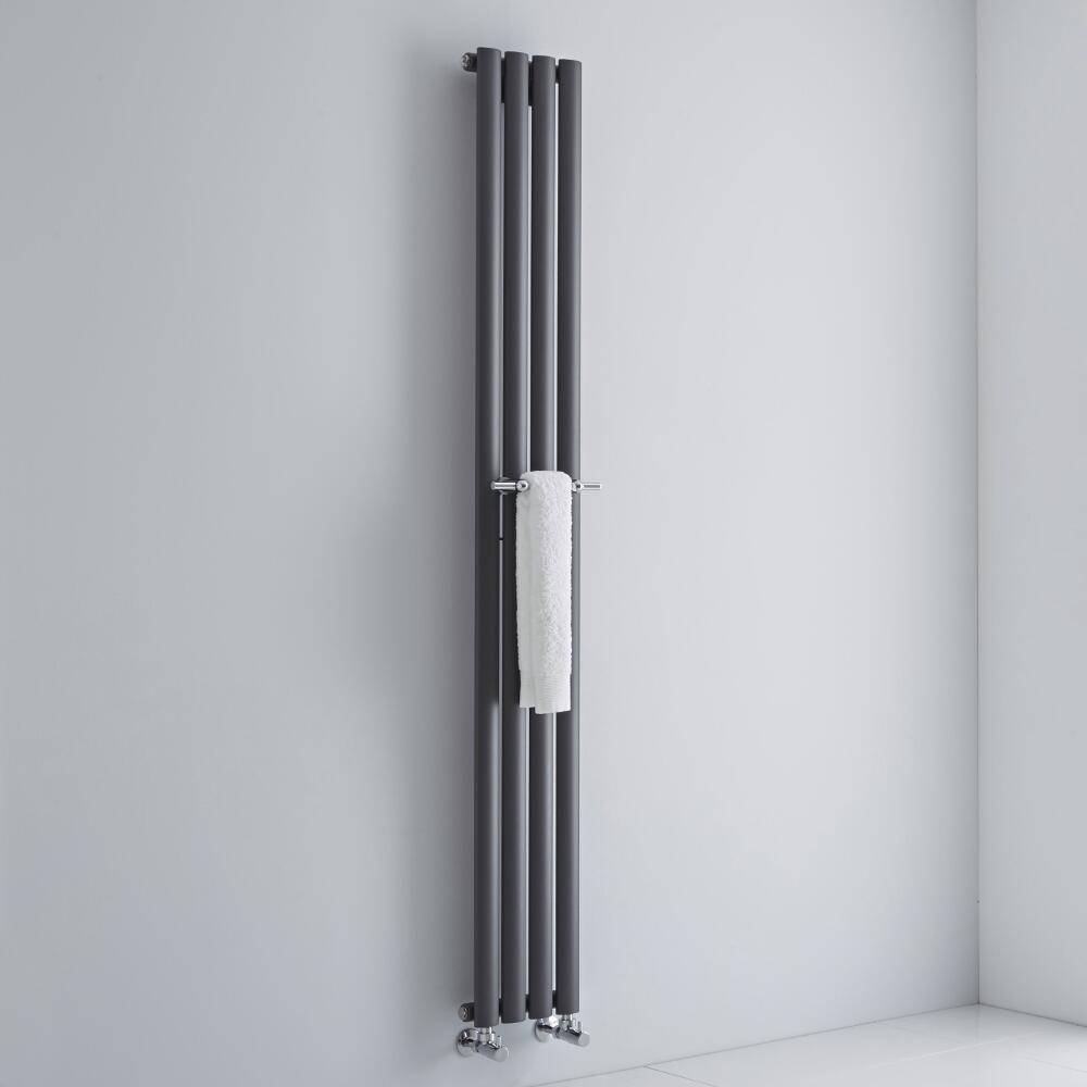 Milano - Chrome Towel Rail for Aruba Vertical Designer Radiator 230mm