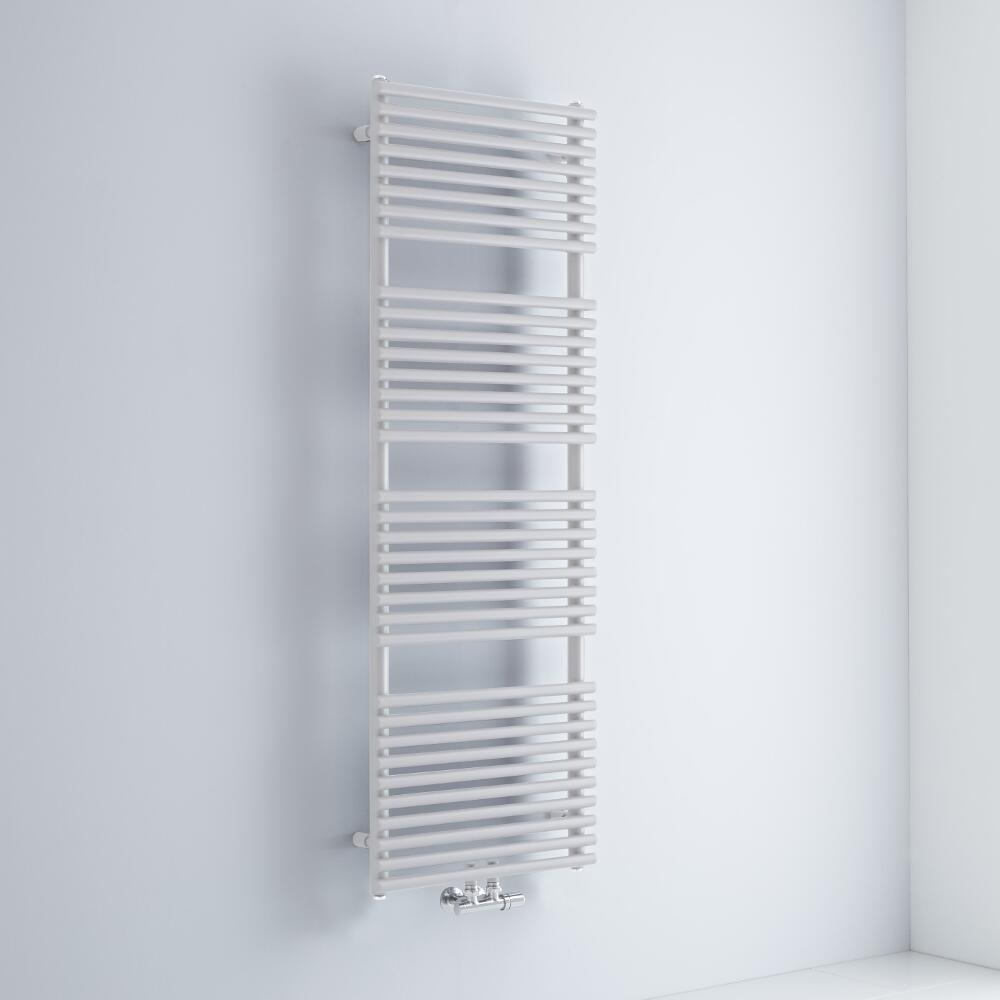 Milano Via - White Bar on Bar Central Connection Heated Towel Rail 1520mm x 500mm
