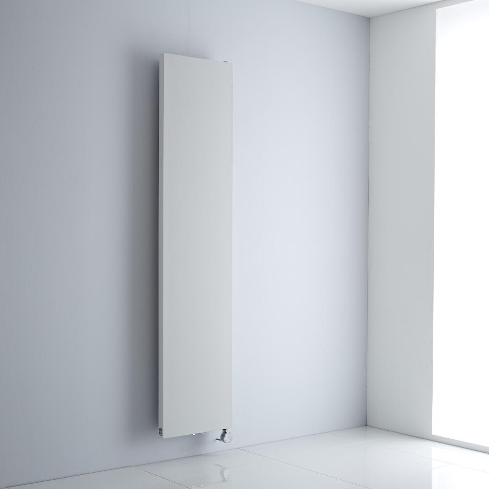 Milano Riso Electric - White Flat Panel Vertical Designer Radiator 1820mm x 400mm