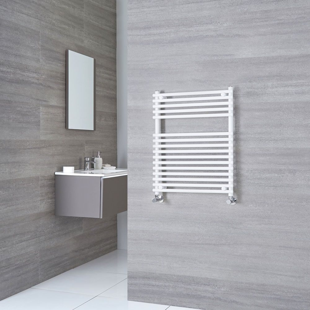 Kudox Flat White Bar On Heated Towel Rail 750mm X 450mm