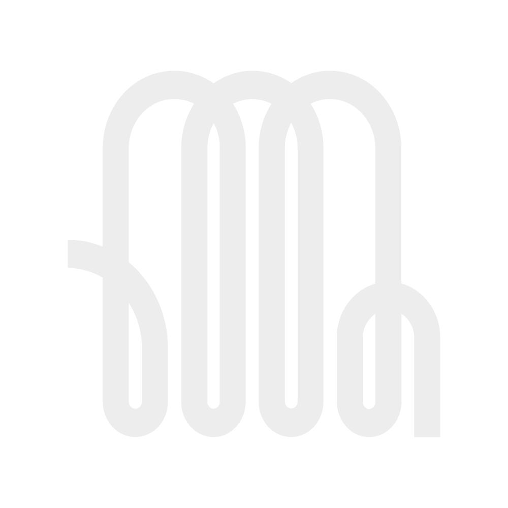 Milano Aruba - White Horizontal Designer Radiator 635mm x 415mm - White Horizontal Designer Radiator in grey hallway