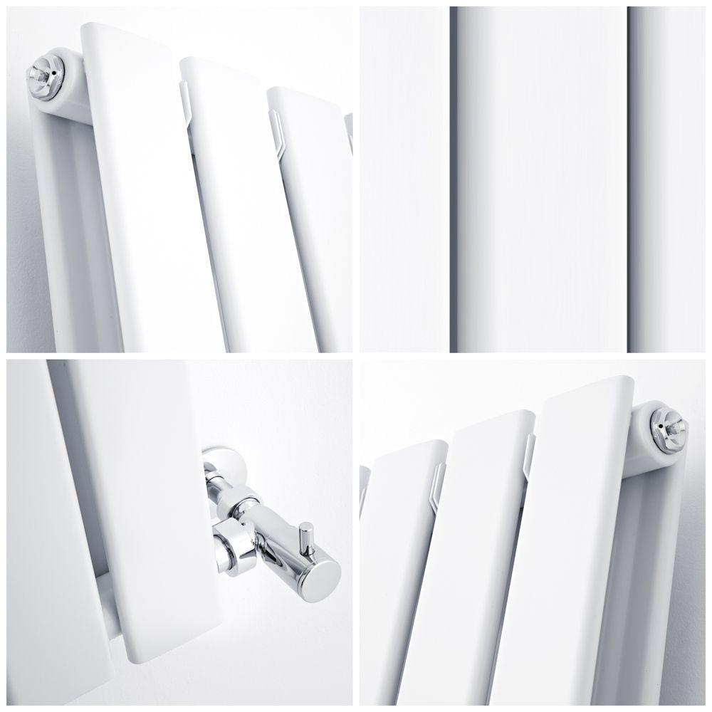 Milano Alpha White Flat Panel Horizontal Designer