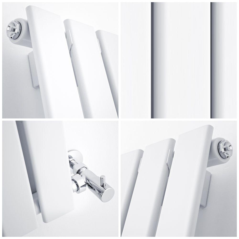Milano Alpha White Vertical Single Slim Panel Designer