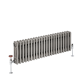 Milano Windsor - Horizontal Triple Column Lacquered Raw Metal Traditional Cast Iron Style Radiator - 300mm x 1010mm