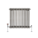 Milano Windsor - Horizontal Triple Column Lacquered Raw Metal Traditional Cast Iron Style Radiator - 600mm x 605mm