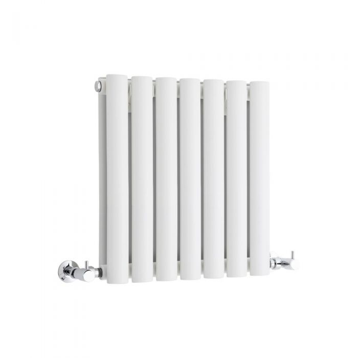 Milano Aruba - White Horizontal Designer Radiator 400mm x 415mm (Double Panel)