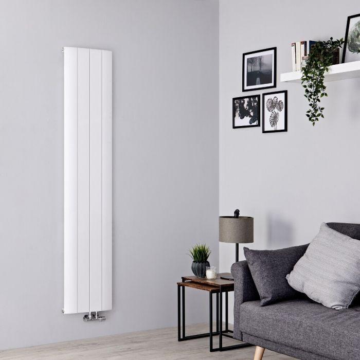 Milano Skye - Aluminium White Vertical Designer Radiator 1600mm x 375mm