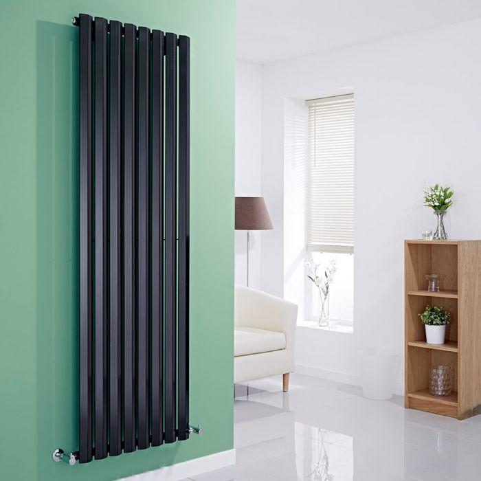 Milano Viti - Black Vertical Diamond Panel Designer Radiator 1780mm x 560mm
