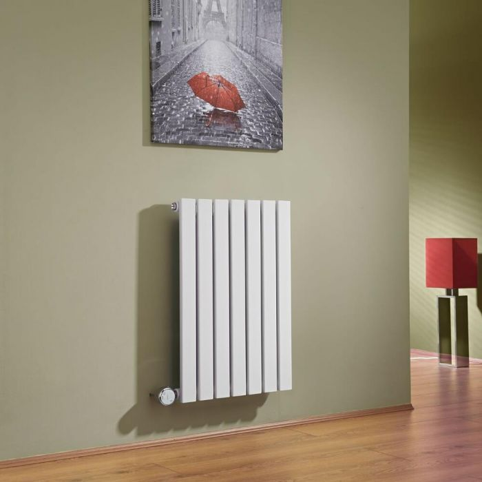 Milano Capri Electric - White Horizontal Flat Panel Designer Radiator 635mm x 420mm