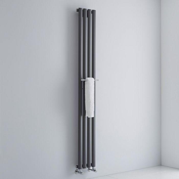 Milano - Chrome Towel Rail for Aruba and Alpha Vertical Designer Radiator 230mm