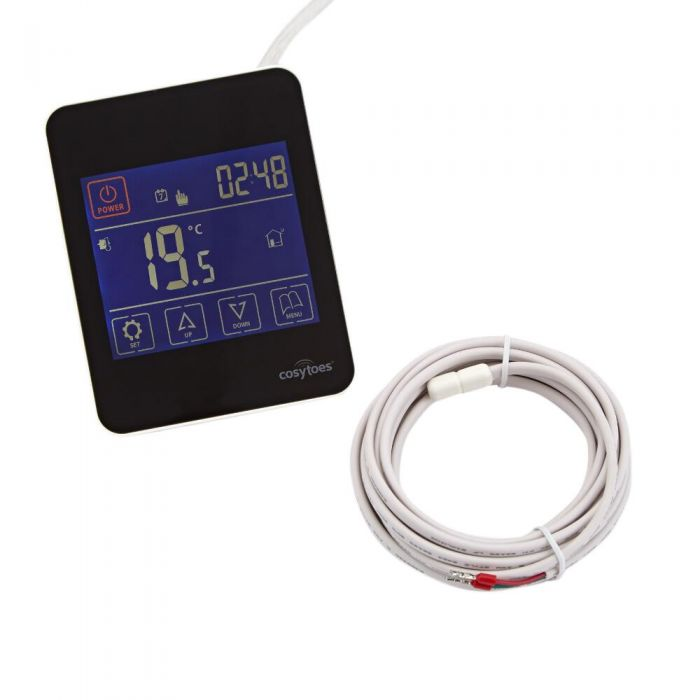 Cosytoes - Under Floor Heating Thermostat with Touchscreen - 20 Amp