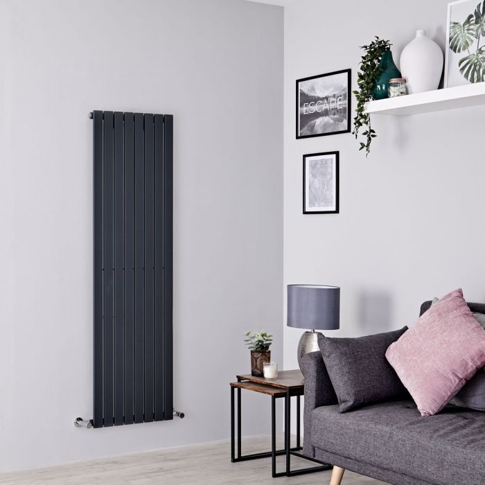 Milano Capri - Anthracite Vertical Flat Panel Designer Radiator 1600mm x 472mm
