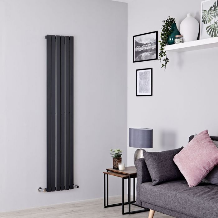Milano Capri - Anthracite Vertical Flat Panel Designer Radiator 1600mm x 354mm