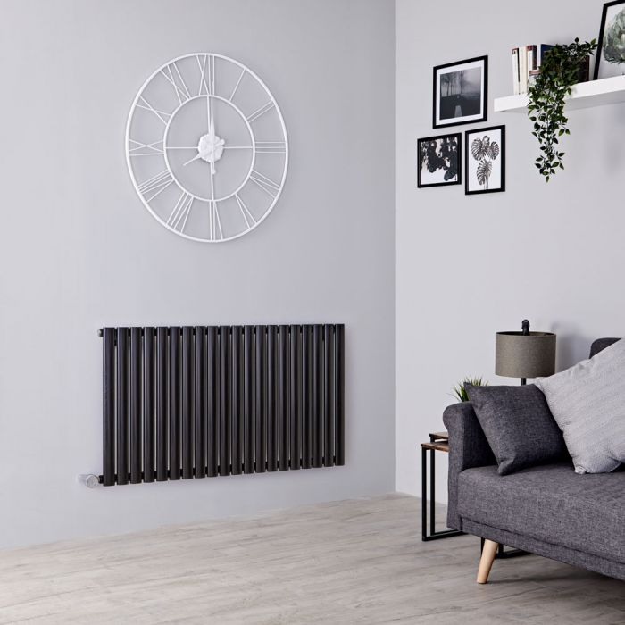 Milano Aruba Electric - Black Horizontal Designer Radiator 635mm x 1180mm