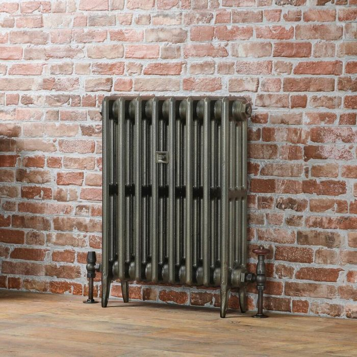 Milano Alice - Classic Cast-Iron Column Radiator - 660mm Tall - Antique Brass - Multiple Sizes Available