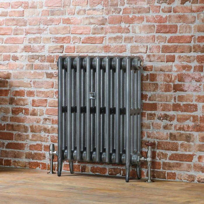 Milano Alice - Classic Cast-Iron Column Radiator - 660mm Tall - Pewter - Multiple Sizes Available