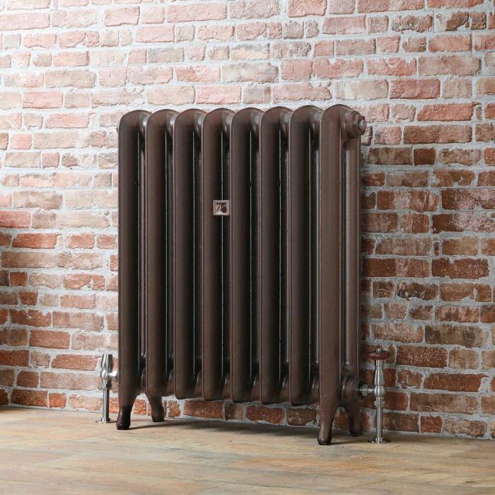 Milano Tamara - Oval Column Cast Iron Radiator - 760mm Tall - Antique Copper - Multiple Sizes Available