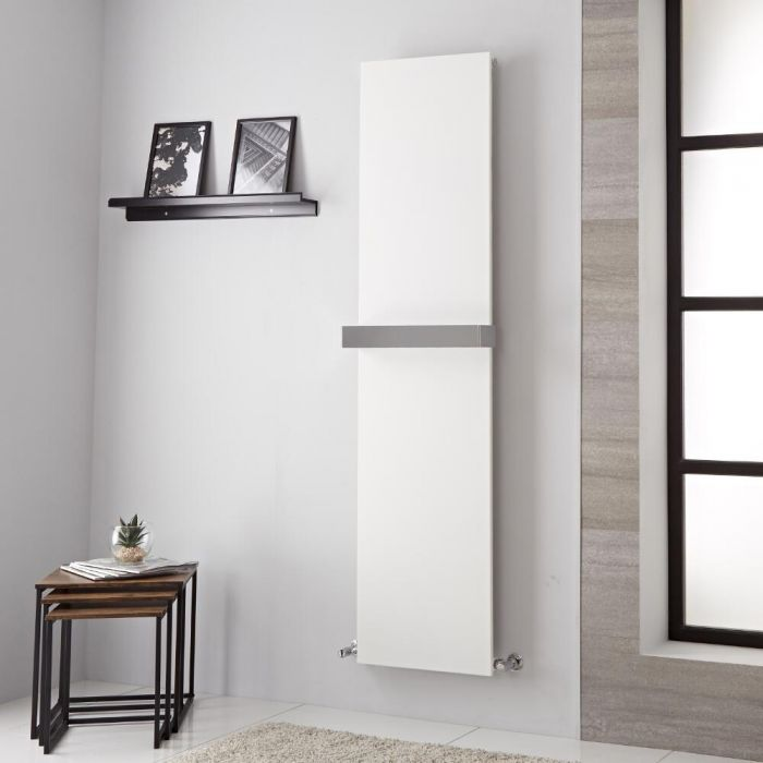 Lazzarini Way - Ischia - Mineral White Vertical Designer Radiator - 1800mm x 450mm