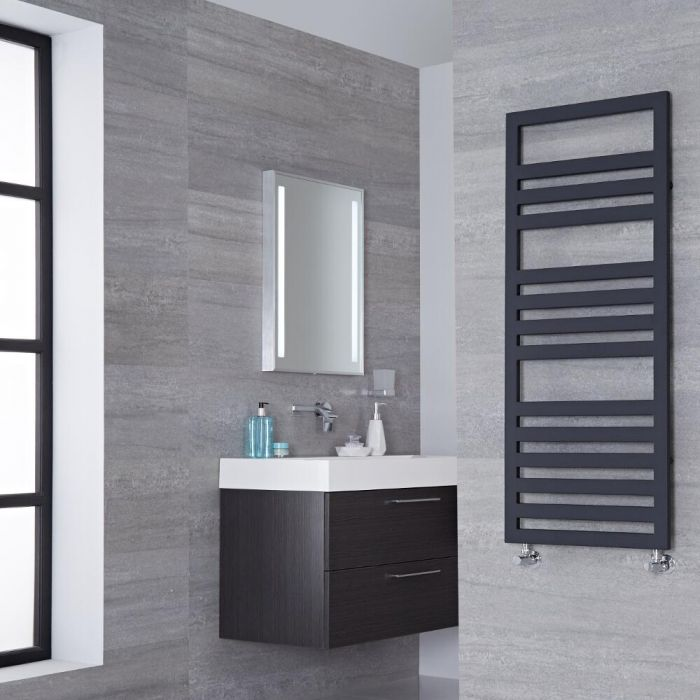 Lazzarini Way - Urbino - Anthracite Designer Heated Towel Rail - 1200mm x 500mm
