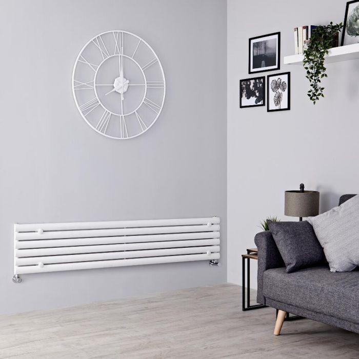 Milano Aruba - White Horizontal Designer Radiator 354mm x 1600mm