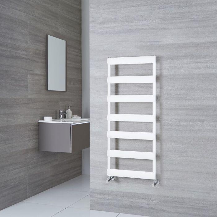 Milano Passo - White Aluminium Designer Towel Rail 1190mm x 500mm