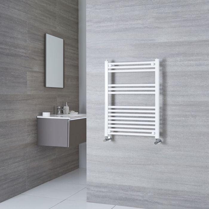 Milano Calder  - Flat White Heated Towel Rail 800mm x 600mm