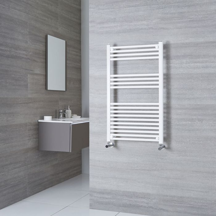 Milano Calder - Flat White Heated Towel Rail 1000mm x 600mm