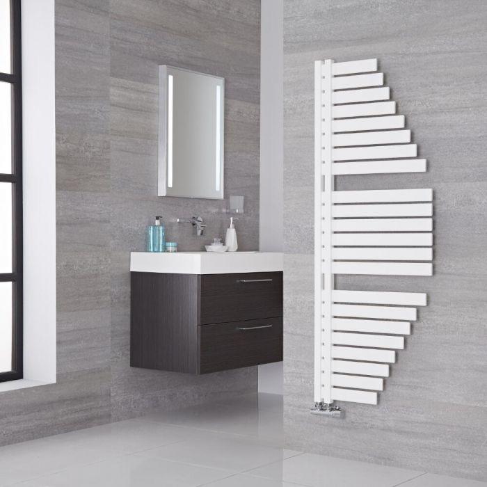 Lazzarini Way - Spinnaker - Mineral White Designer Heated Towel Rail - 1460mm x 547mm
