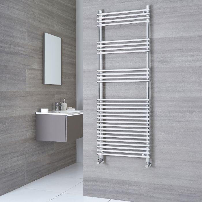 Kudox - Flat Chrome Bar on Bar Towel Rail 1650mm x 600mm