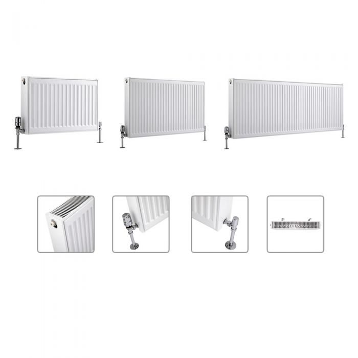 Milano Compact - Type 22 - Double Panel Radiator - Multi Sizes Available