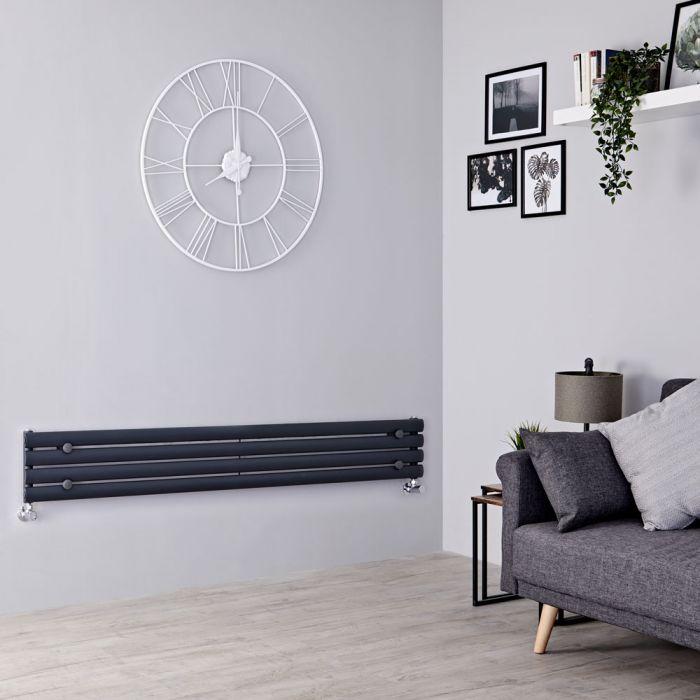 Milano Aruba - Anthracite Horizontal Designer Radiator 236mm x 1780mm