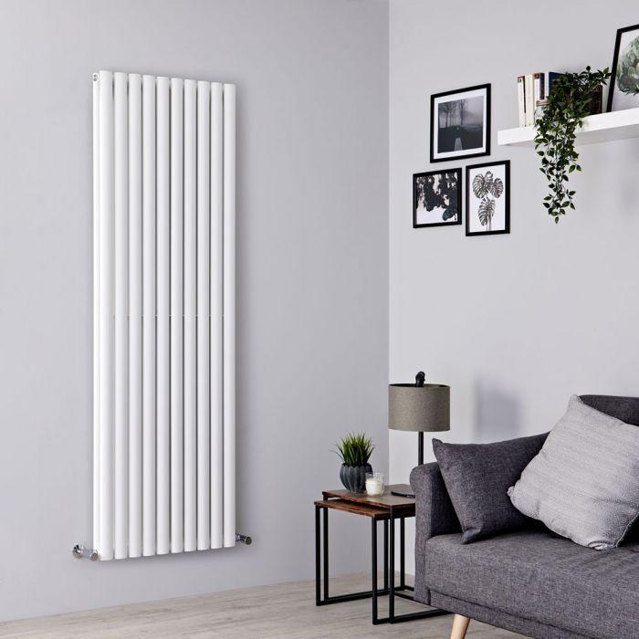 Milano Aruba - White Vertical Designer Radiator 1780mm x 590mm (Double Panel)