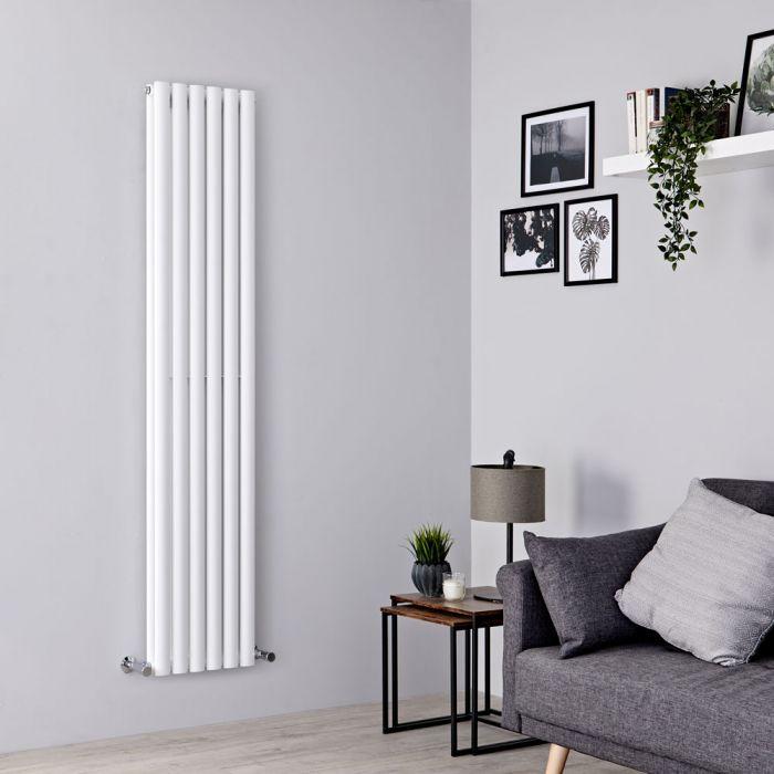 Milano Aruba - White Vertical Designer Radiator 1780mm x 354mm (Double Panel)