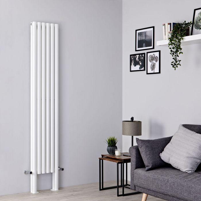 Milano Aruba Plus - White Vertical Designer Radiator with Feet 2000mm x 354mm (Double Panel)