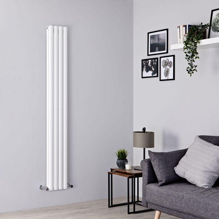 Milano Aruba Slim - White Space-Saving Vertical Designer Radiator 1780mm x 236mm (Double Panel)