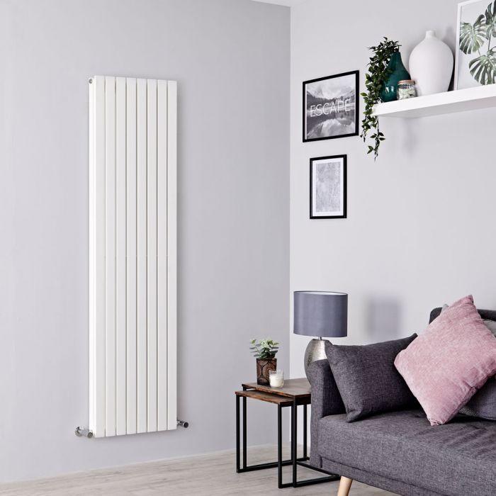 Milano Capri - White Flat Panel Vertical Designer Radiator - 1780mm x 472mm (Double Panel)