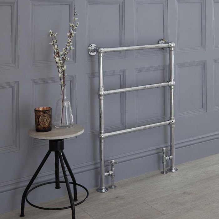 Milano Derwent - Minimalist Traditional Heated Towel Rail 930mm x 630mm
