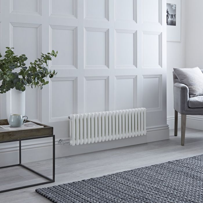 Milano Windsor - Traditional White 2 Column Electric Radiator 300mm x 1010mm (Horizontal)