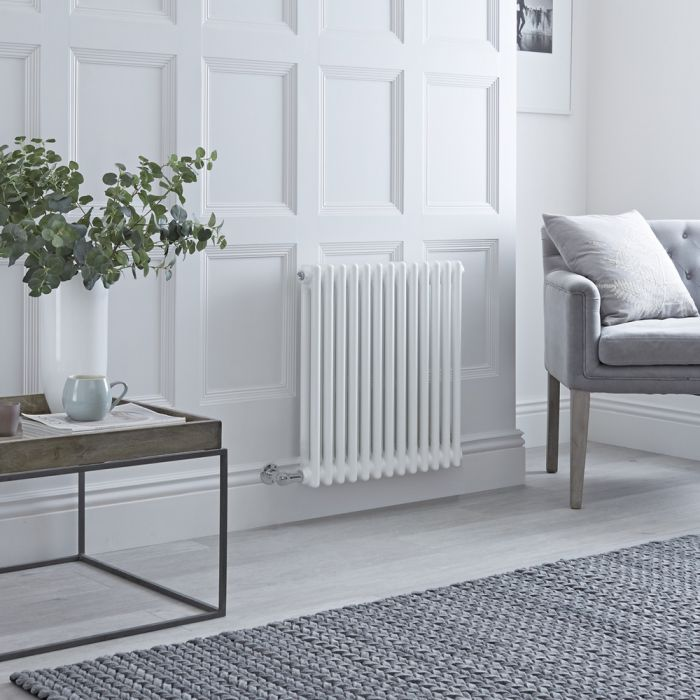 Milano Windsor - Traditional White 2 Column Electric Radiator 600mm x 605mm (Horizontal)