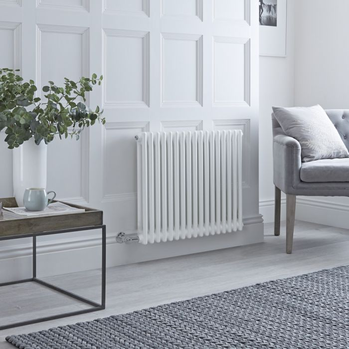Milano Windsor - Traditional White 2 Column Electric Radiator 600mm x 785mm (Horizontal)