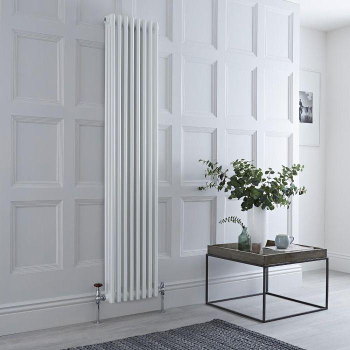 Milano Windsor - Traditional White 3 Column Vertical Radiator 1800mm x 383mm