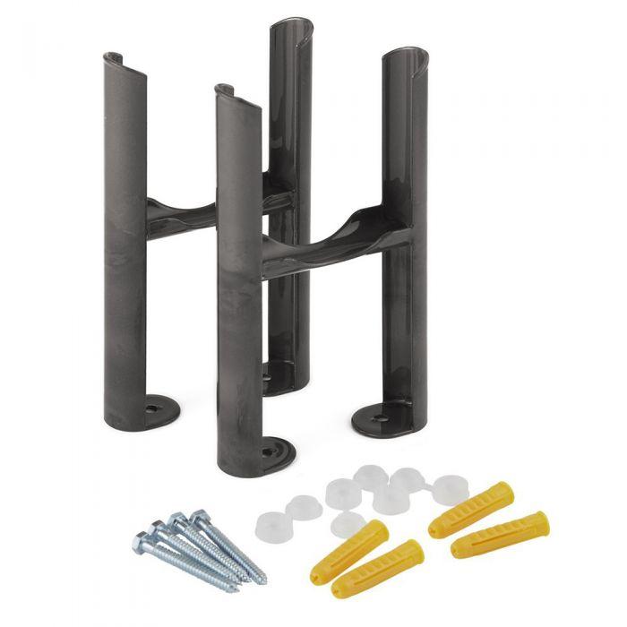 Milano Windsor - Traditional 3 Column Radiator feet - Raw Metal