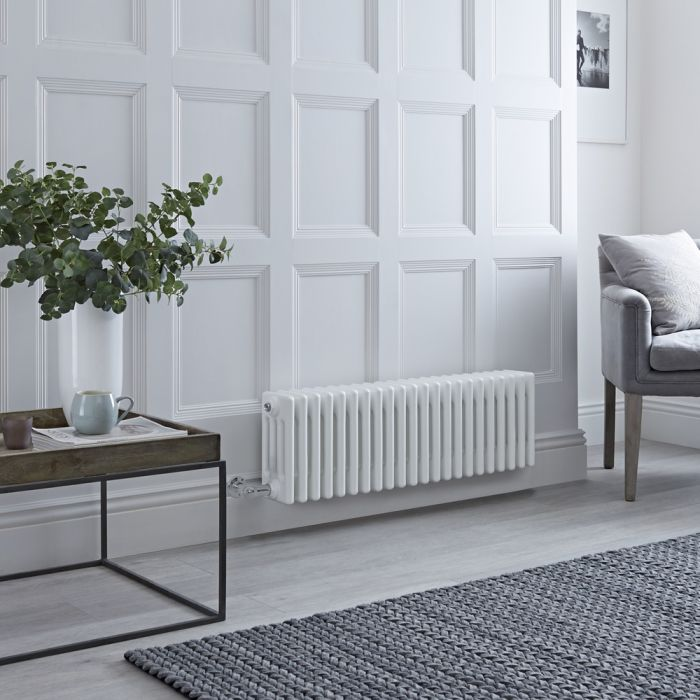 Milano Windsor - Traditional White 4 Column Electric Radiator 300mm x 1010mm (Horizontal)