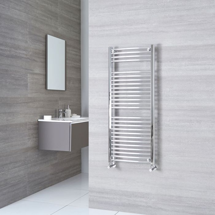 Sterling - Premium Chrome Curved Heated Towel Rail 1200mm x 500mm