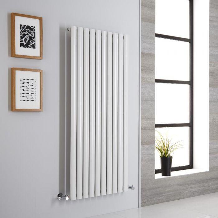 Milano Aruba Aiko - Modern White Vertical Designer Radiator 1400mm x 590mm (Single Panel)