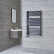 Milano Brook - Anthracite Flat Heated Towel Rail 1000mm x 600mm