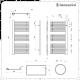 Lazzarini Way - Grado - Chrome Designer Heated Towel Rail - 1190mm x 600mm